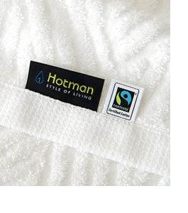 ホットマンのフェアトレードタオル